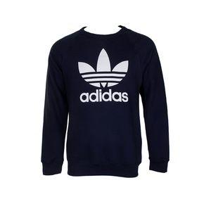Adidas Men Trefoil Logo Graphic Raglan Sweatshirt